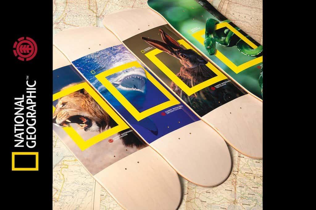 Nueva colección tablas de skate Element Skateboards National Geographic Edición Limitada